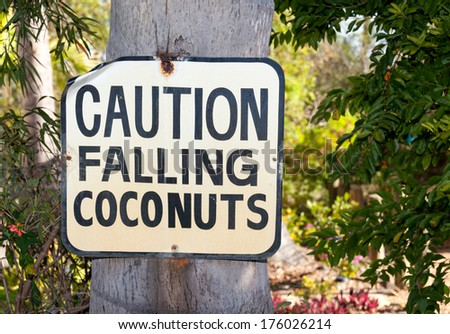sign you only see in tropics - stock photo