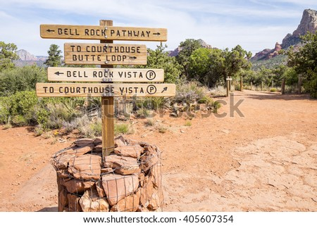 Signage on Hiking Trails in Sedona Arizona