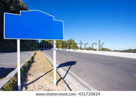 Signal on country road, Traffic Signs, Traffic that is ahead of the curve, Curve signs, traffic signs on the road in thailand.  - stock photo