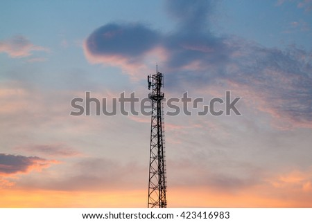 signal pole with sky background