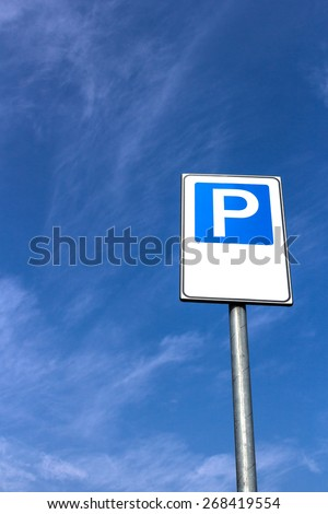 Signal public parking seen from below. - stock photo