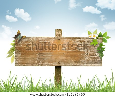 Signboard image - stock photo