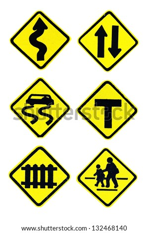 signboard on the road - stock photo