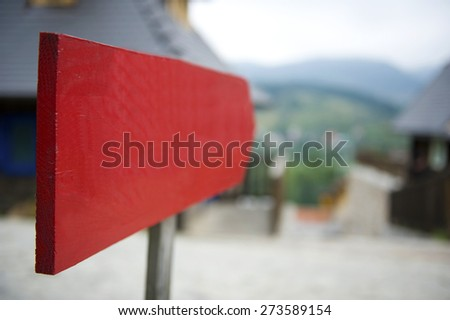 Signboard showing direction,shallow depth of filed - stock photo