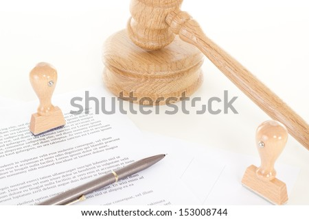 Signing contract of employment - stock photo