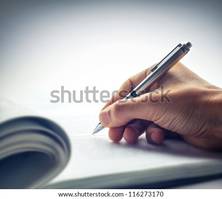 Signing document - stock photo