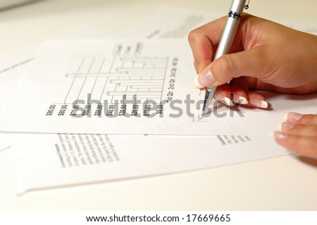 Signing financial document