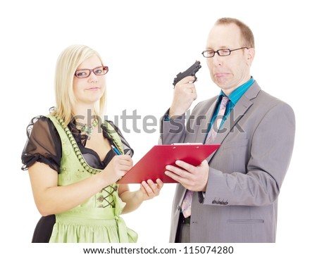 Signing of an agreement - stock photo