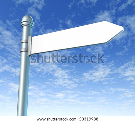 signpost single blank