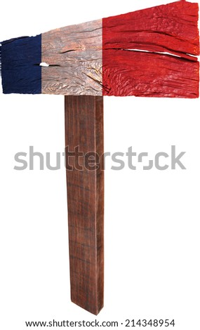 Signpost timber from France - stock photo