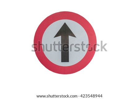 Signs are not allowed to - stock photo