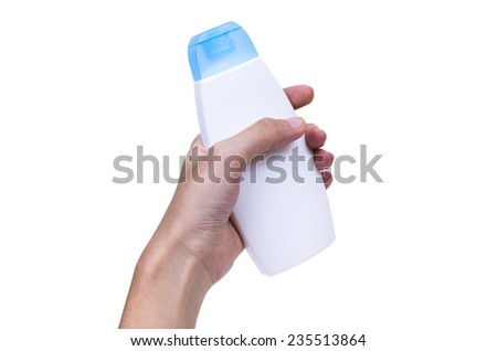 Signs Bottle hand isolated on background  - stock photo