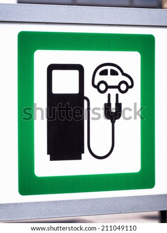 signs for a power supply for electric cars