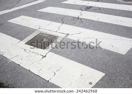 Signs in urban road, urban symbol - stock photo