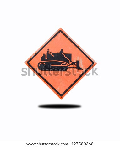 Signs machinery, - stock photo