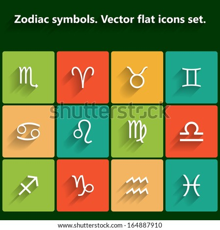 Signs of the zodiac. Raster version - stock photo