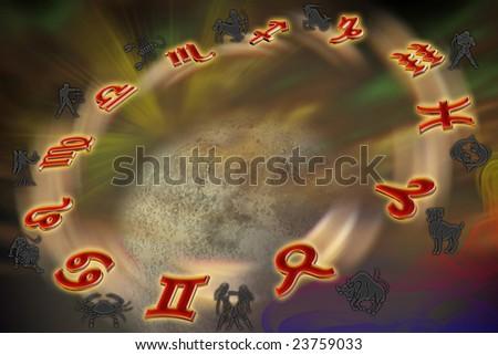 Signs of Zodiac - stock photo