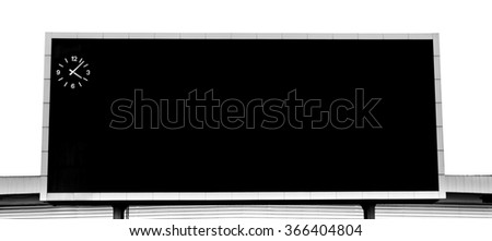 Signs the scoreboard. - stock photo