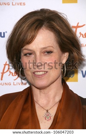 Sigourney Weaver   at the Trevor Project's 11th Annual Cracked Xmas Fundraiser. The Wiltern Theatre, Los Angeles, CA. 12-07-08