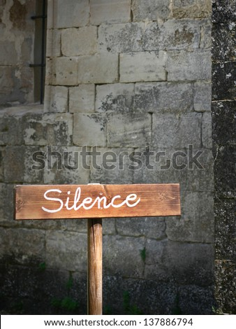 Silence in the church - stock photo
