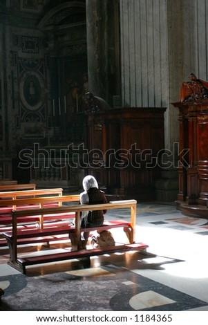 silent prayer - stock photo