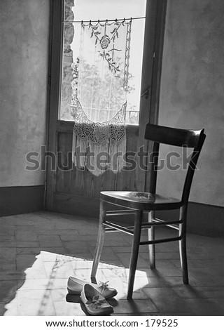 Silent room in Tuscany, Italy - stock photo