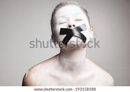 Silent white slaves - stock photo