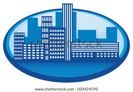 Silhouette City - stock photo