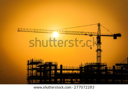 Silhouette construction oil refinery