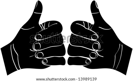 hand gesture fuck you symbol middle stock vector