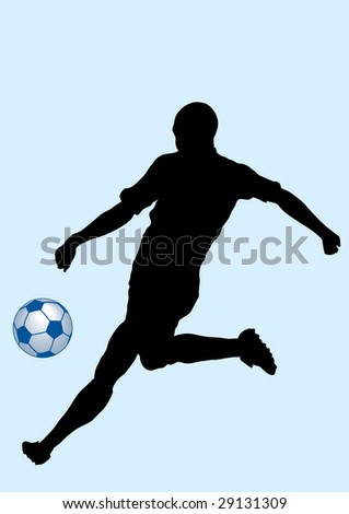 silhouette man and ball