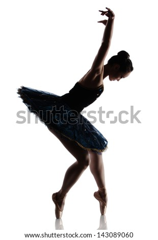 Beautiful Female Ballet Dancer On Grey Stock Photo ...