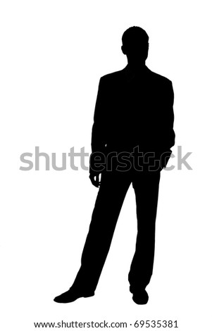 silhouette of a businessman in a suit