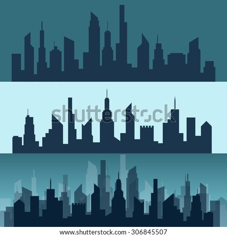 Silhouette of a city in vector