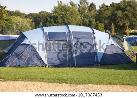 Silhouette of a cycle reflected onto the side of a tent in a c& site in & Tent Side Stock Images Royalty-Free Images u0026 Vectors | Shutterstock