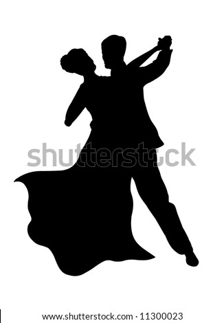 √ Silhouette Of Dancing Couple