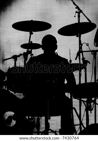 Silhouette Drummer Stock Photos, Silhouette Drummer Stock Photography ... White Drum Set Silhouette