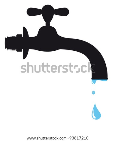 Silhouette of a tap