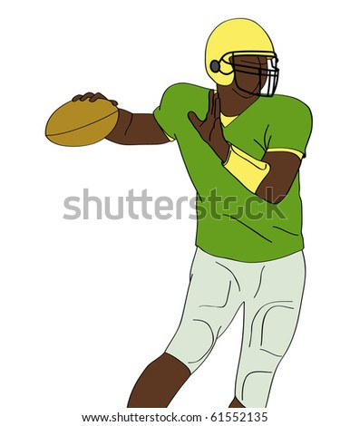 silhouette of american football player