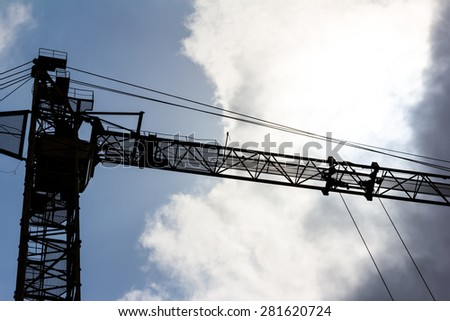 silhouette of an arrow of a tower 