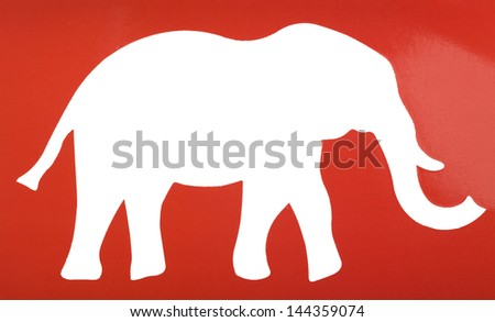 Silhouette of an elephant - stock photo