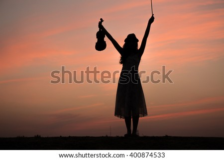 Violinist Silhouette Stock Images Royalty Free Images