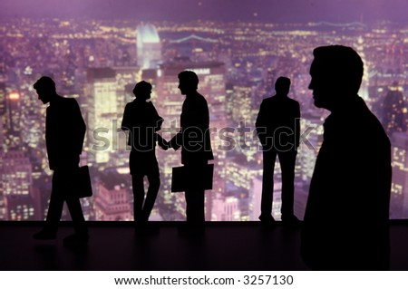 Silhouette of Business People-aa6