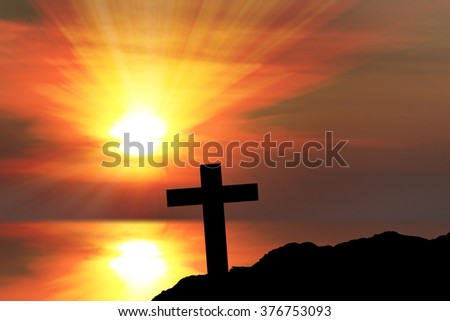 Silhouette of crosses