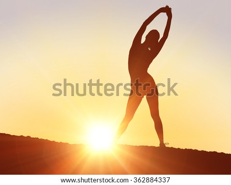 Silhouette of fit person