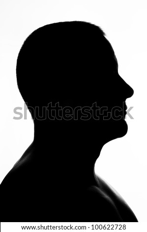 silhouette of man - stock photo