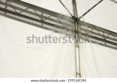 Silhouette Of Scaffold As Seen From The Gap Of Tent