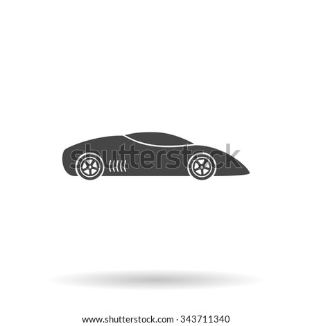 Sport Car Line Icon Outline Vector Stock Vector