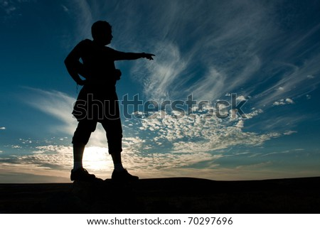 Silhouette of the photographer