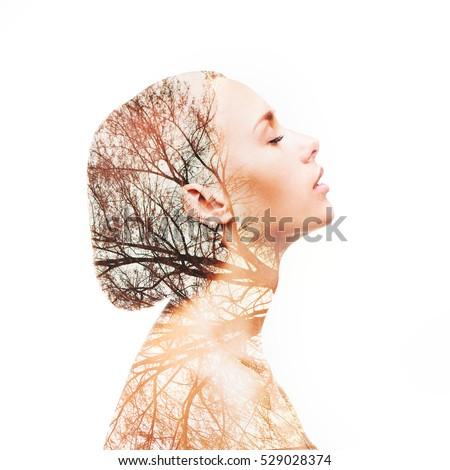 Картинки женщина и осень без лица